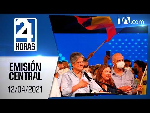 Noticias Ecuador: Noticiero 24 Horas 12/04/2021 (Emisión Central)
