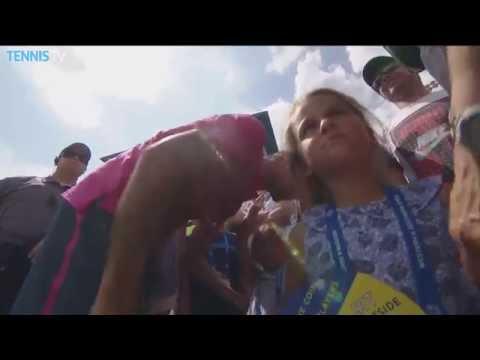 Federer Twin Daughters Cincinnati Celebration