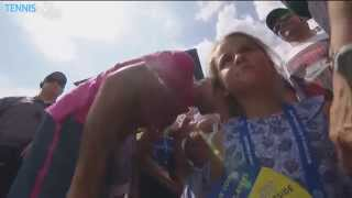 Federer Twin Daughters Cincinnati Celebration