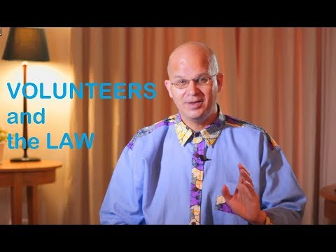 Volunteers and the law - what to know.