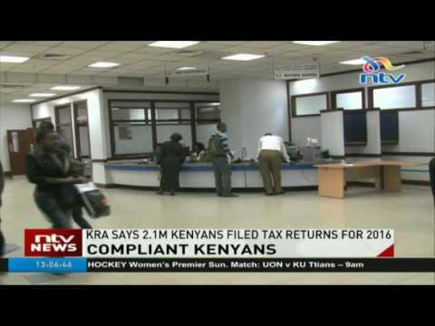 KRA says 2.1m Kenyans filed tax returns for 2016