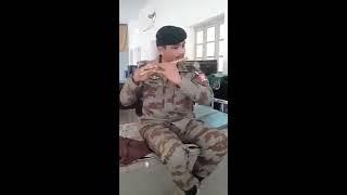 Pakistan army soldier playing Bansuri on qawali