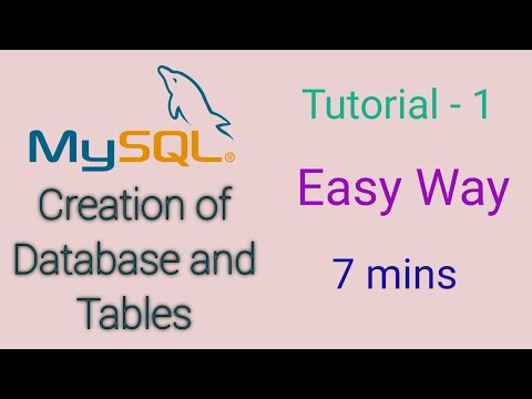 MySQL Tutorial For Beginners - 1 - Creating A Database And Adding A Table In It