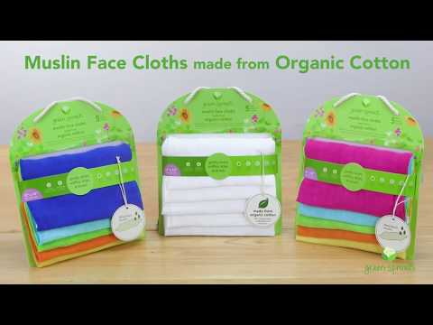 green sprouts® Muslin Face Cloths made from Organic Cotton