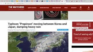 92,000 Evacuated ChinaTyphoon PrapiroonFloods & Landslide Nepal