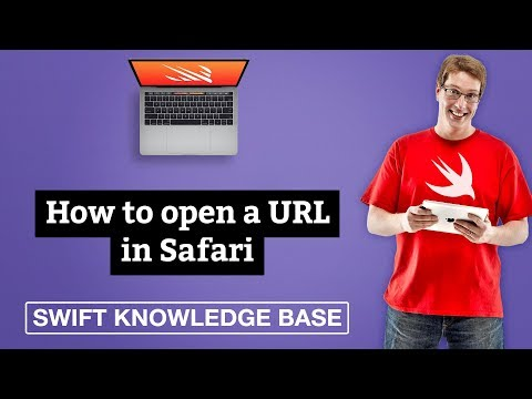 How to open a URL in Safari - free Swift 5 0 example code and tips