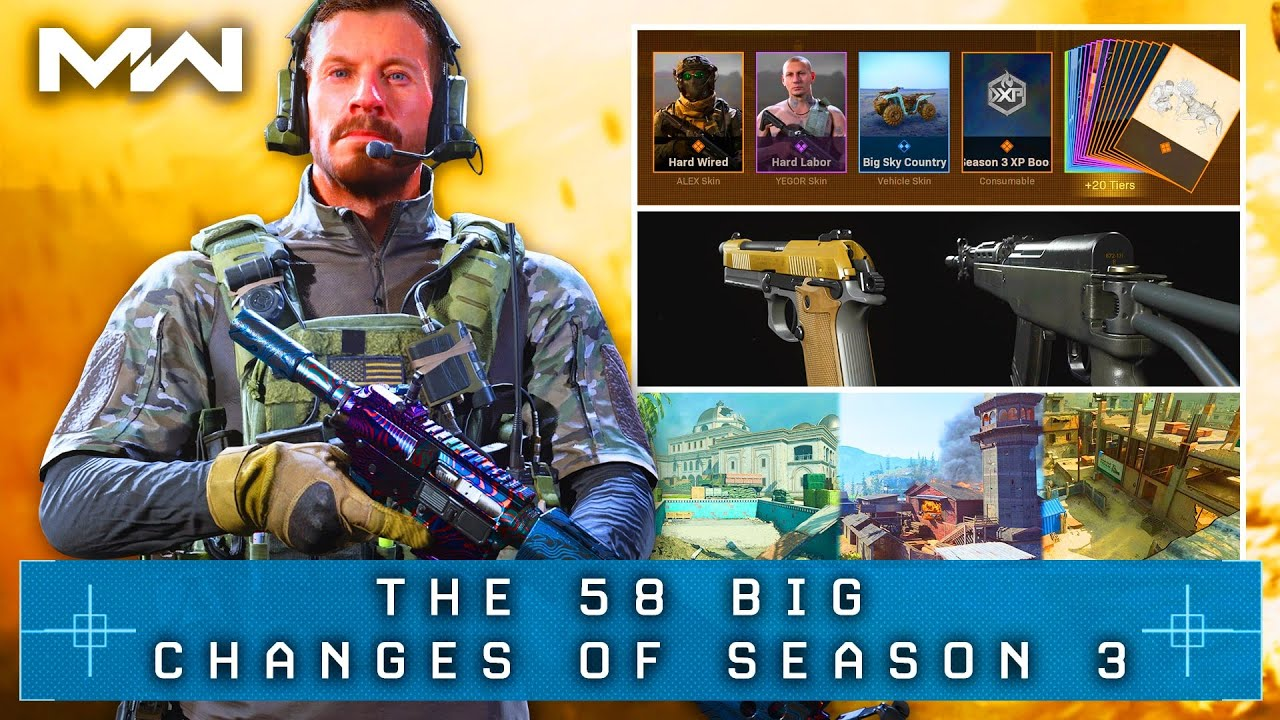 Call of Duty WARZONE: The 58 BIG CHANGES of SEASON 3's Update (MW Update 1.19)