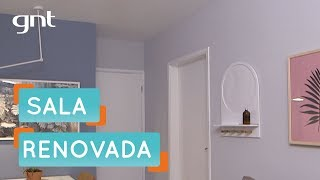 Sala nova para um casal | Antes e Depois | Decora | Maurício Arruda