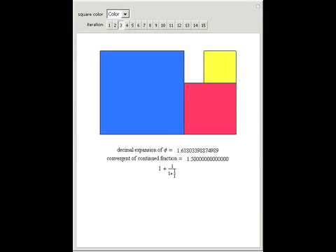 Geometric and Continued Fraction Expansion of the Golden Ratio