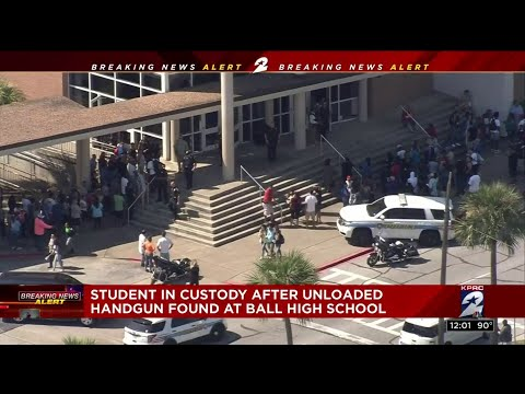 Ball High School student in custody after unloaded gun found on campus