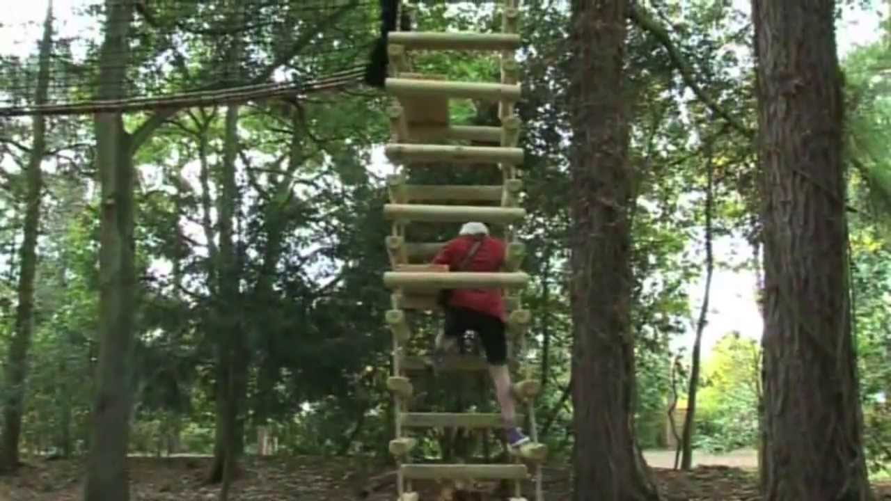 & Treehouse Life Tree Canopy Walkway u0026 4-sided Rope Ladder - YouTube