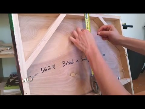 How to Attach a Hanging Wire to a Painting: Part 1