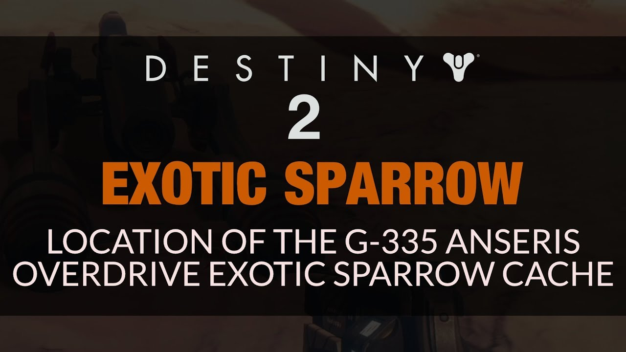 g-335 anseris overdrive exotic sparrow