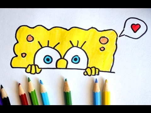 How to draw Spongebob Squarepants, Как нарисовать Спанч Боба