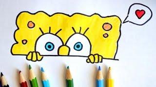 Как нарисовать Спанч Боба (Губка Боб). How To Draw SpongeBob(Если Вам понравилось видео, подписывайтесь на мой канал: ..., 2016-08-04T18:17:48.000Z)