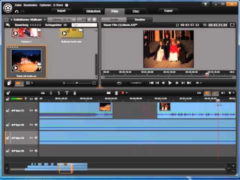 Multicam Schnitt   schneiden in Avid studio und Pinnacle Studio