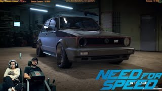 Ночное жогово на древнем Wolksvagen Golf GTI Need for Speed 2015 2016
