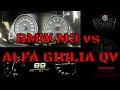 BMW M3 F80 VS Alfa Romeo Giulia QV (MT) acceleration - NEW Head2Head! SERIES