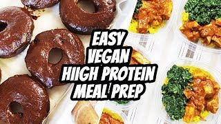 HIGH PROTEIN VEGAN MEAL PREP / WHAT I EAT IN A DAY #86 | Mary