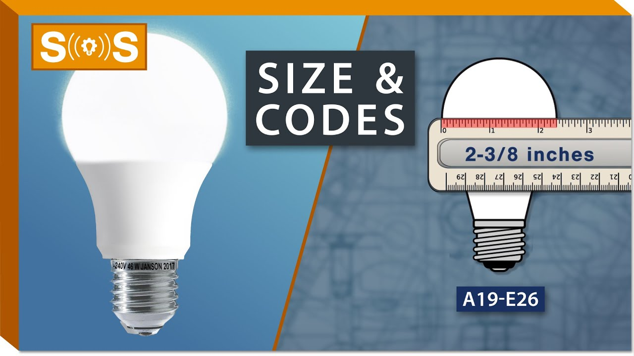 Standard Light Bulb Size & Codes | Spec. Sense - YouTube
