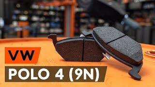Montera Bromsbelägg bak och fram VW POLO (9N_): gratis video