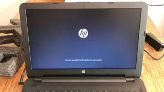 HP 15 ay042ng Windows installieren, Setup und erster Eindruck