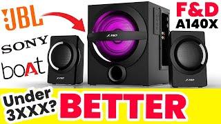 F amp D A140X 2 1 Speaker Unboxing Sound test Review Bluetooth Speaker Home Theatre F amp D Speaker