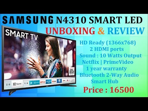 SAMSUNG 4 Series UA32N4310ARXXL LED UnBoxing & Review [Hindi]