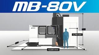 3d machine view/vertical machining center mb-80v【okuma corporation japan】