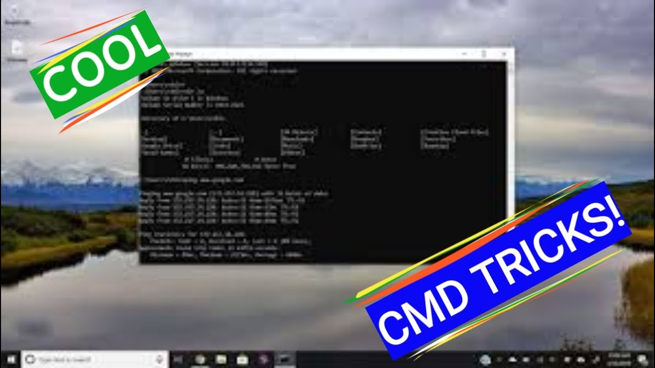 Cool CMD Tricks For Your Pc! | Windows 10