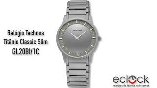 Relógio Technos Masculino Titânio Classic Slim GL20BI 1C - Eclock 42336ca06a