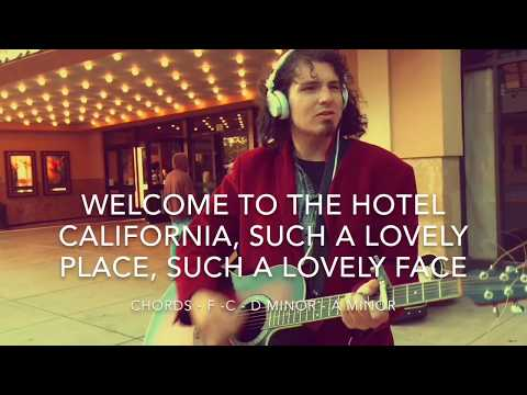 Hotel California (The Eagles) with lyrics and chords