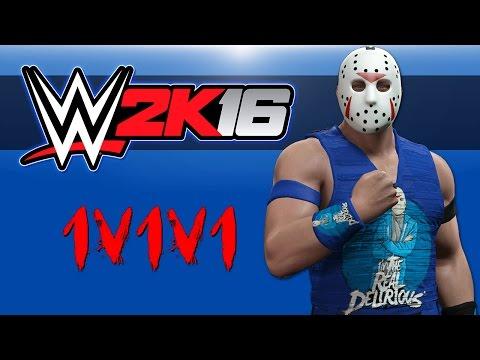 WWE 2K16 - Triple Threat TLC Match (Bryce Vs Delirious Vs OHM) 1v1v1