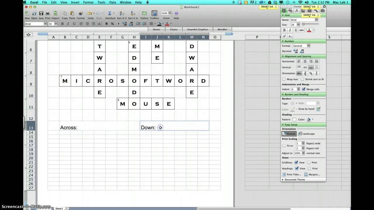 Excel Crossword - YouTube