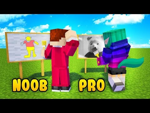 NOOB RYSOWNIK vs PRO RYSOWNIK - Minecraft | CZOKLET vs GAENALI