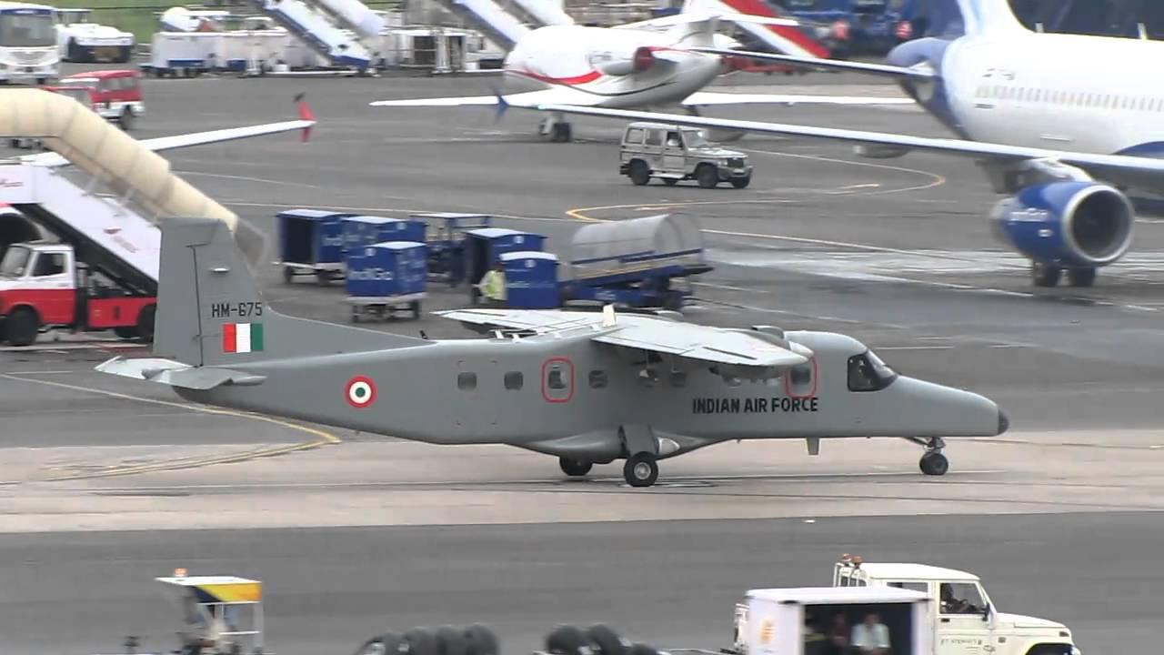 An Indian Air Force Dornier Do 228 Turboprop Reg. HM 675 Taxiing at Delhi Airport