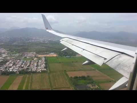 American Airlines landing Port of Spain, Trinidad