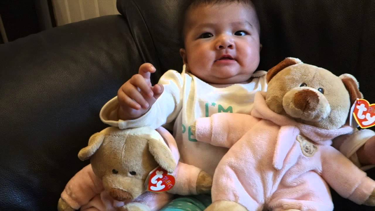 Fatherhood - Got Katherine TY Pluffies Pink Baby PJ Bear - YouTube 611ca171900