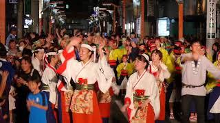 よさこい 坂戸・夏よさこい2018  総踊り(初日) 2018年8月18日