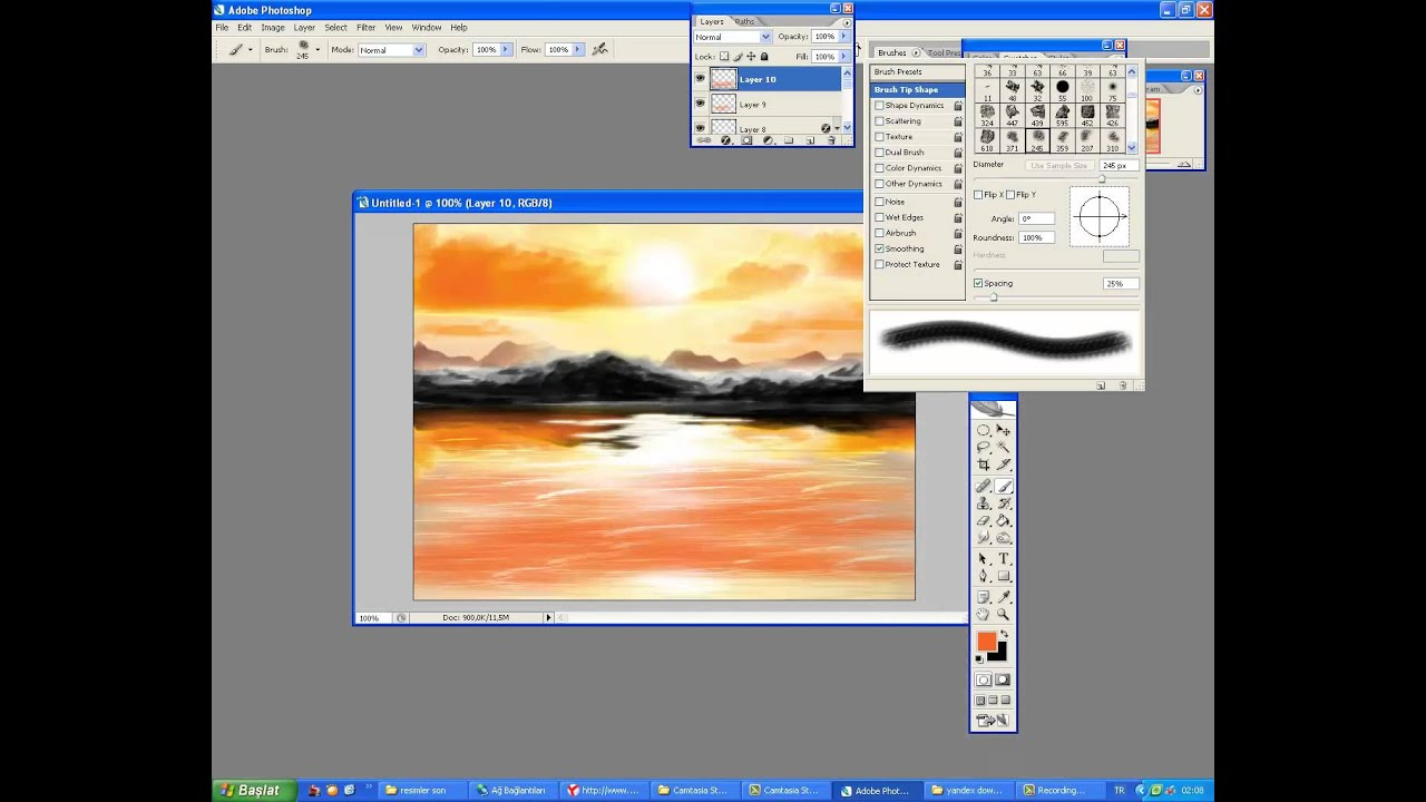 How To Draw A Sunset In Paint Tool Sai