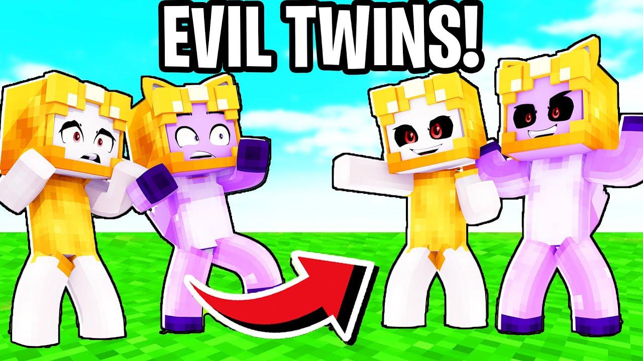 Foxy & Boxy Meet Their EVIL TWINS In MINECRAFT! (LankyBox Minecraft Movie)