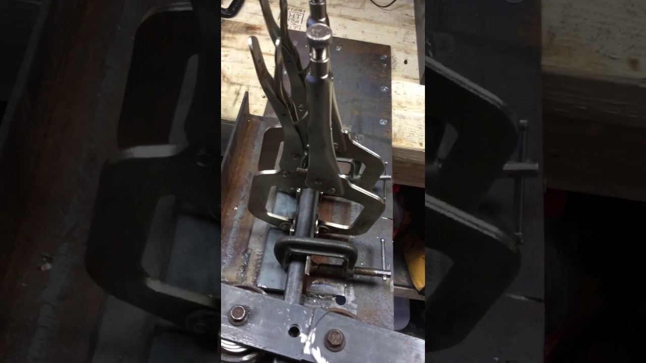 Homemade square tubing bender