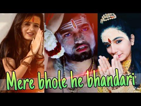 #bholenath   Mere Bhole He Bhandari Best Shiv Ratri Specil Tik Tok video   Musically India Compilati