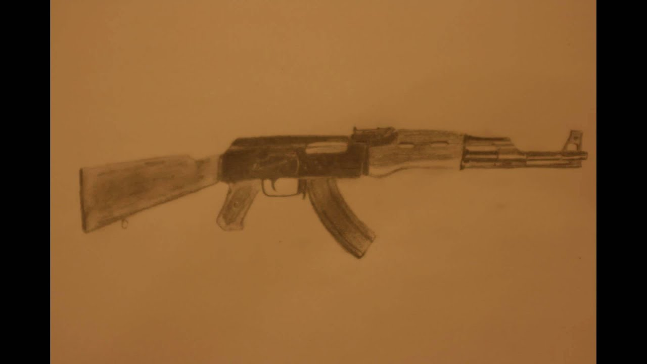 It's just a photo of Eloquent Drawing Of Ak 47