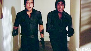 Amitabh Bachchan & Vinod Khanna as funny black theifs - Hera Pheri - Comedy Scene