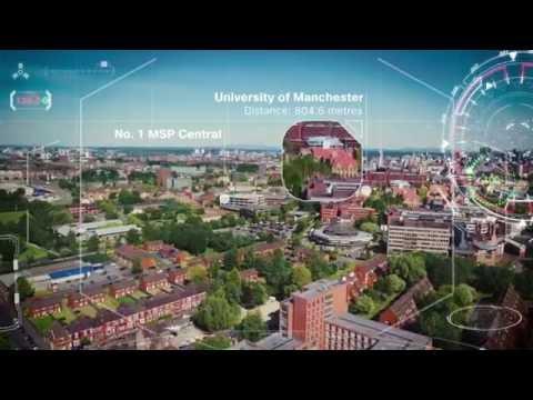 Drone explores Manchester's new Mi-IDEA innovation centre