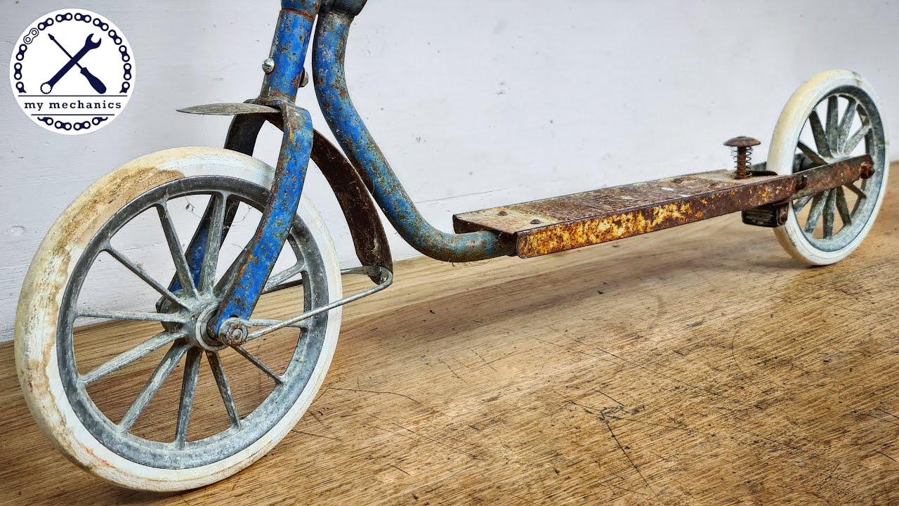 Broken Rusty Oldtimer Scooter - Restoration