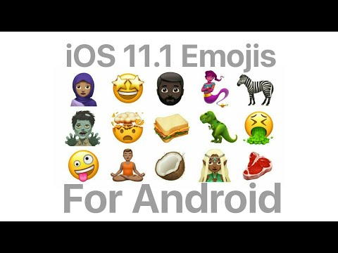 Get Latest iOS 11 1 Emojis On Your Android - YouTube