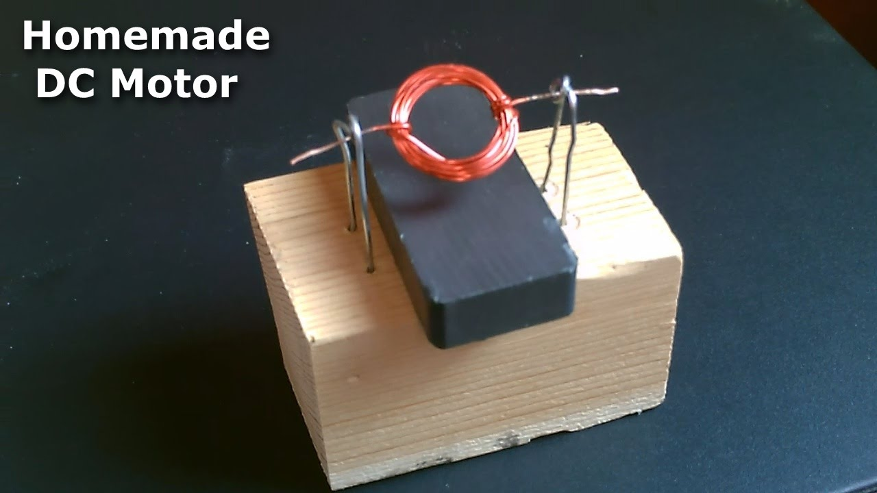homemade dc motor how to make a simple dc motor s