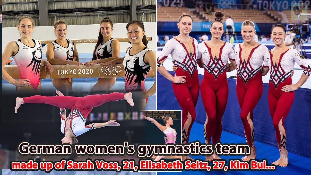 German women's gymnastics team made up of Sarah Voss, 21, Elisabeth Seitz, 27, Kim Bui..., Stand Up